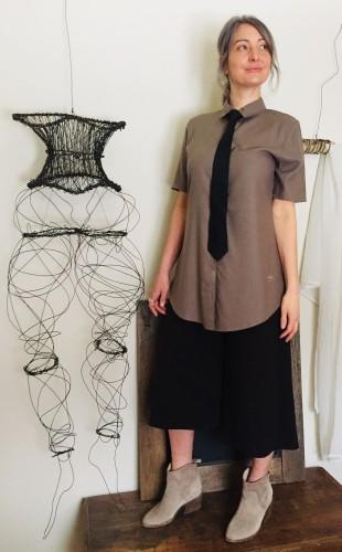 Dalida blouse Raw Silk